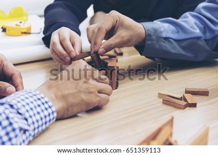 teamwork process. Marketing strategy brainstorming concept #651359113