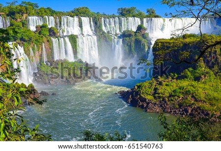Waterfall river landscape #651540763