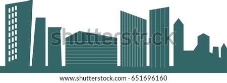 Down town. Vector illustration. #651696160