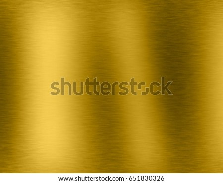 Gold metal brushed background or texture of brushed steel plate with reflections Iron plate and shiny #651830326