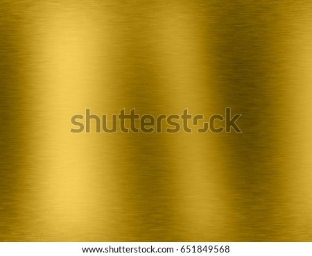 Gold metal brushed background or texture of brushed steel plate with reflections Iron plate and shiny #651849568