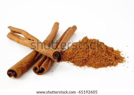 cinnamon on white background #65192605