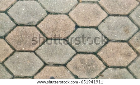 Honeycomb, footpath, street floor #651941911