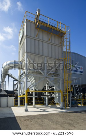 Hedera, Israel, May 15 2012: biomass plant in production of energy #652217596