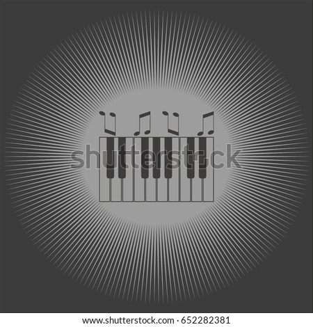 piano keyboard, vector #652282381