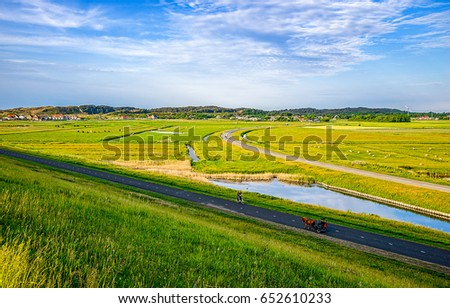 Rural road village area panoramic landscape #652610233