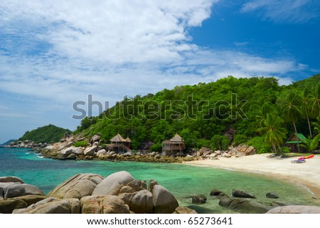 Beautiful tropical seascape in sunny day. #65273641