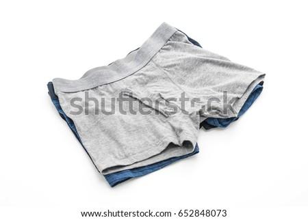 men underwear isolated on white background #652848073