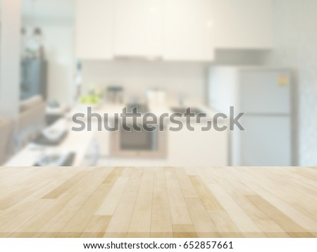Table Top And Blur kitchen Of The Background #652857661