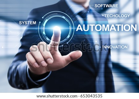 Automation Software Technology Process System Business concept #653043535