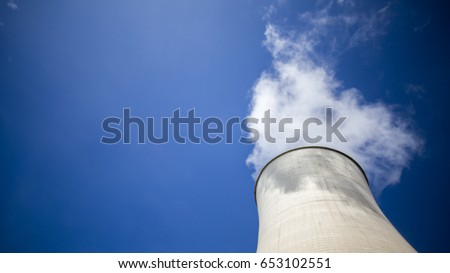 Cooling towers of nuclear power plant. #653102551