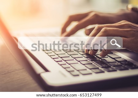 Searching Browsing Internet Data Information Networking Concept / soft focus picture / Vintage concept #653127499