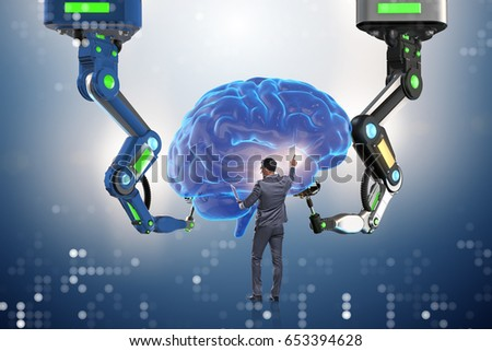 Artificial intelligence concept with businessman #653394628