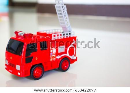 Toy fire truck, fire truck