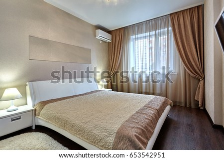 bedroom with a beautiful interior #653542951