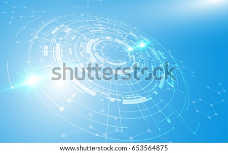 abstract futuristic background technology sci fi concept #653564875