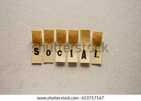 social  - word in sticky letters #653717167