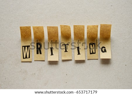 writing  - word in sticky letters #653717179
