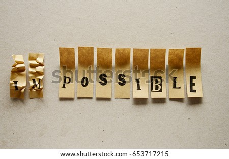 impossible  - word in sticky letters #653717215
