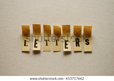 letters - word in sticky letters #653717662