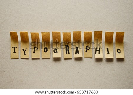 typographic - word in sticky letters #653717680