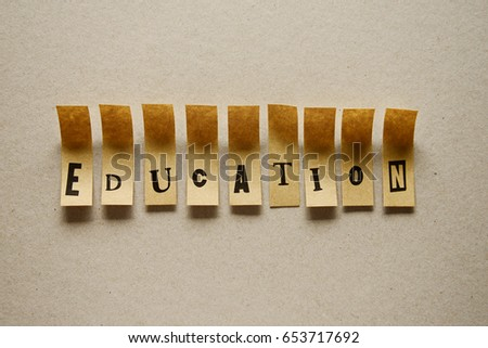 education - word in sticky letters #653717692
