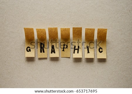 graphic - word in sticky letters #653717695