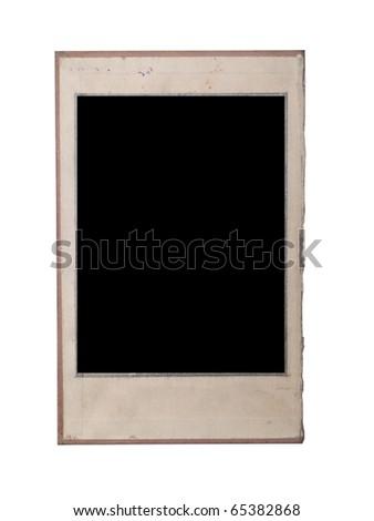vintage photo frame isolated on white #65382868