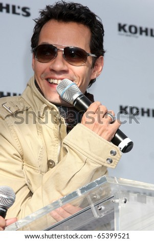 LOS ANGELES - NOV 18:  Marc Anthony at the press conference for Jennifer Lopez & Marc Anthony / Kohl's Lifestyle Brand Launch at The London Hollywood on November 18, 2010 in W. Hollywood, CA #65399521