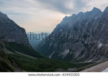 Epic mountain landscape #654431002