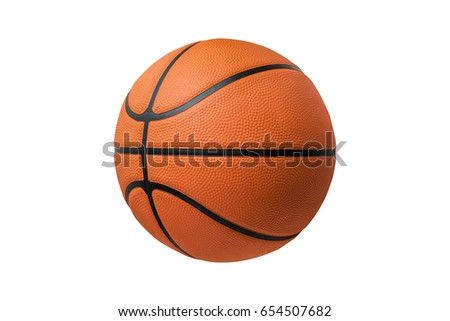 Basketball ball over white background. isolated. orange color #654507682