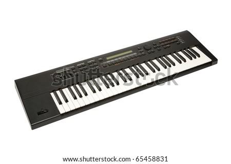 Synthesizer isolated on white background Royalty-Free Stock Photo #65458831