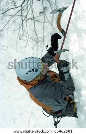 Ice climbing the North Caucasus. #65462581