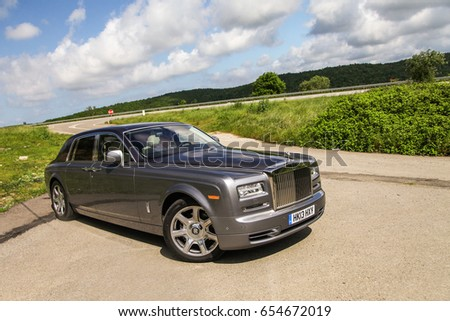 Istanbul, Turkey-May 2014 Rolls Royce Phantom is on the road #654672019
