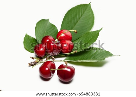 Dozen beautiful cherry and one rotten, shifted the focus #654883381