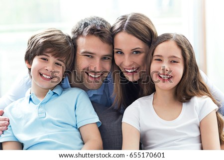 Happy family at home  #655170601