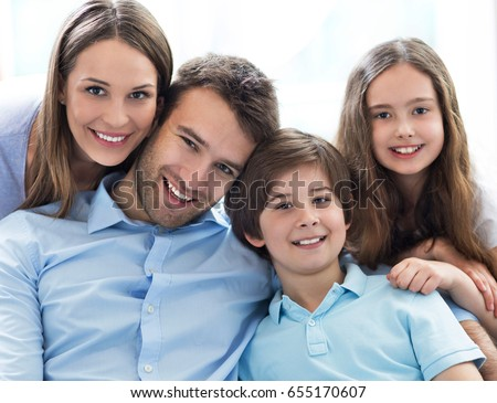 Happy family at home  #655170607