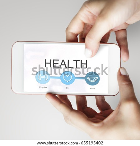 Hands working on digital device network graphic overlay #655195402