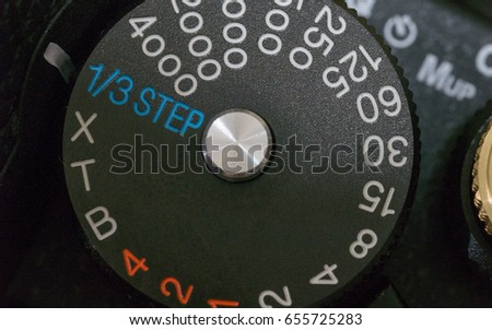Speed shutter dial