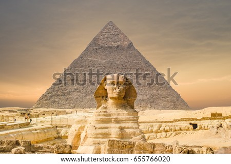 The Sphinx and Pyramid ,Cairo,Egypt #655766020