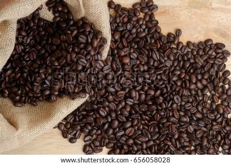 Medium roasted Arabica coffee beans #656058028
