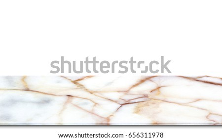 Marble counter high resolution isolated on white background. #656311978