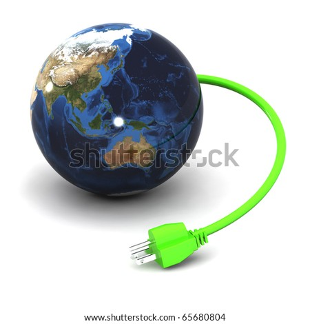 A Colourful 3d Rendered Green Energy Illustration (Australia / Japan) #65680804