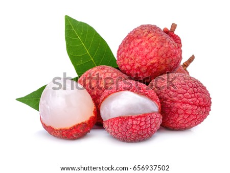lychee isolated on white background #656937502