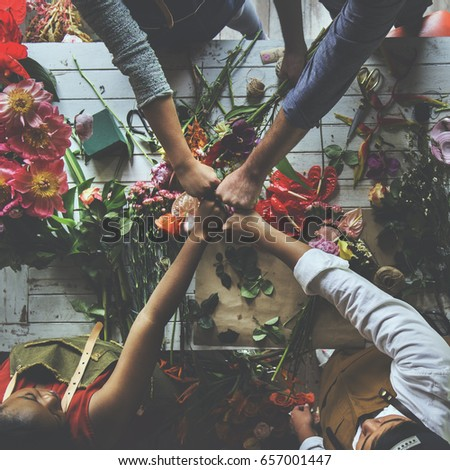 Group of people decorate the flower #657001447