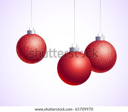 Christmas red decorative balls #65709970