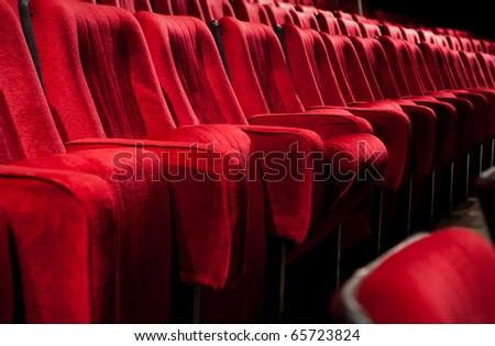 Empty theater auditorium cinema or conference hall #65723824