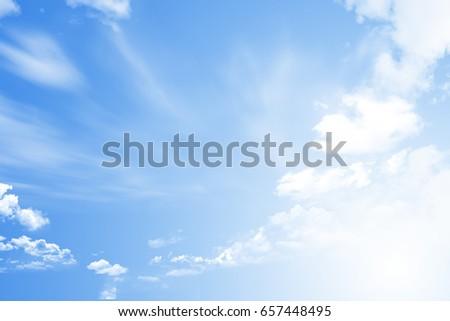 Blue sky with cloud #657448495