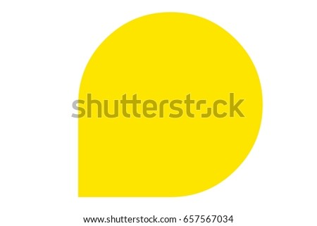 Yellow lable on white background. #657567034
