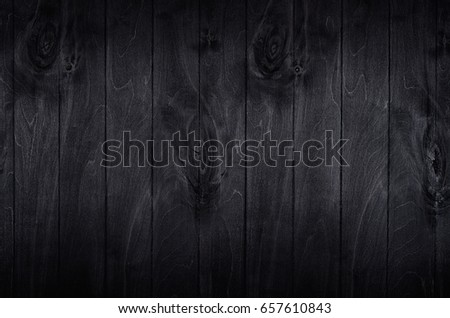 Noir elegance black wooden board background. Wood texture. #657610843